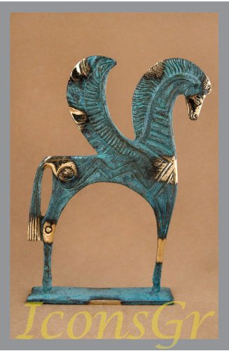 Ancient Greek Bronze Museum Statue Replica of Pegasus (174) - Greek Art Statues