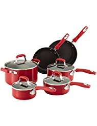 Guy Fieri 10-Piece Nonstick Cookware Set, Red