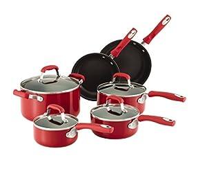 Amazon Com Guy Fieri 10 Piece Nonstick Cookware Set Red
