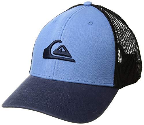 (Quiksilver Men's Grounder Trucker HAT, Orange/Blue, 1SZ)