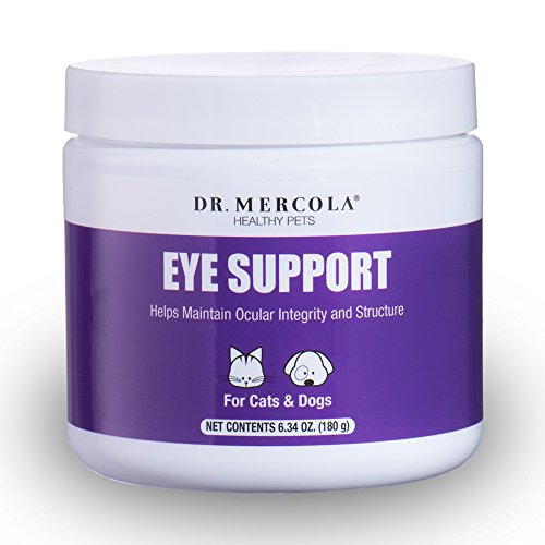 Dr. Mercola Eye Support for Pets - 180 Grams - Lutein, Astaxanthin, Zeaxanthin, Bilberry Antioxidants with Vitamin C and Vitamin E - Maximize Your Dog or Cat's Eye Health - Delicious Liver Flavor