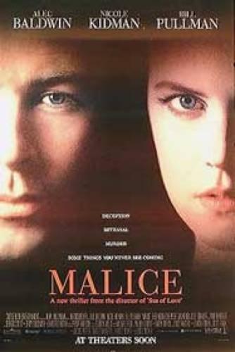 Malice Alec Baldwin Nicole Kidman Poster