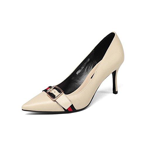 dfc351dd 85% OFF DKFJKI Bombas De Mujer Hebilla De Cinturón A Punta Zapatos De Cuero  De
