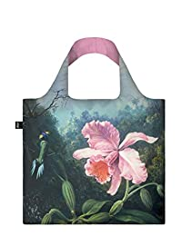 LOQI Museum Martin Johnson Heade Still Life with Orchid Reusable Shopping Bag, Multicolored