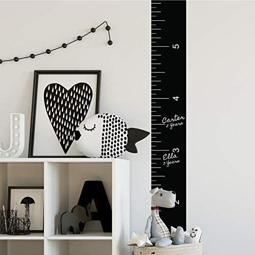 RoomMates Growth Chart Chalk Ruler Peel And Stick Giant Wall Decal