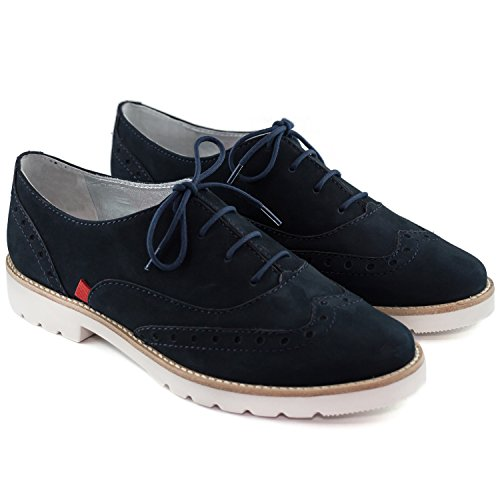 Shoes NYC Women's Nobuck Navy Fashion Made Joseph Lace Marc Brazil NY in up x0FqT8w6q