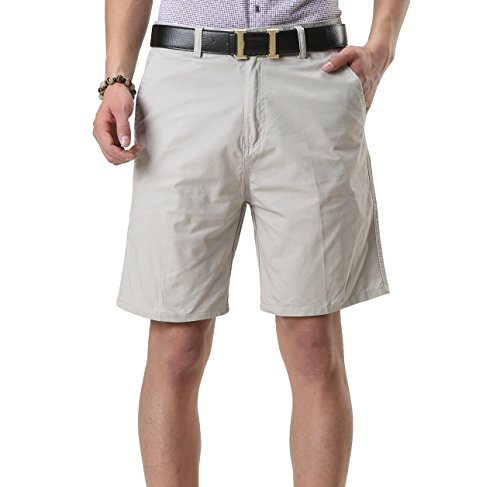 Satankud Men's Classic-Fit Golf Short Solid Flat Front Chino Short – DiZiSports Store