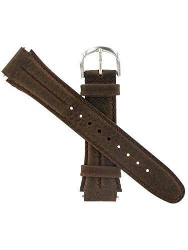 Watch Band 18mm Genuine Leather/Nylon Sport Watchband Replacement, Fits Timex Expedition and All Other Brands, Brown