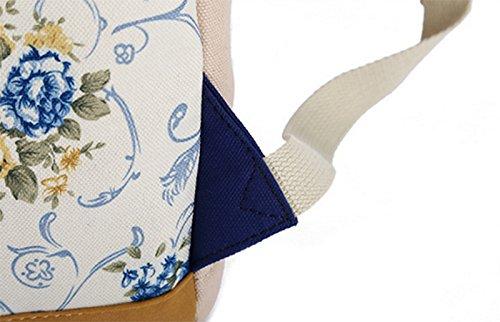 Blue Deep 30 centimetri zainetto Borsa stampa Womens borsa zaino Ladies Hosaire scuola tela 17 Dimensioni Casual zaino Ragazze 1X 44 rosa qx1CwRHS