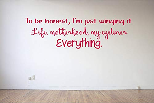 (to be Honest - Eyeliner - Motherhood - Life - Winging - Makeup - Beauty - Mummy - Mommy - Wall Art Vinyl Decal Sticker Made in)