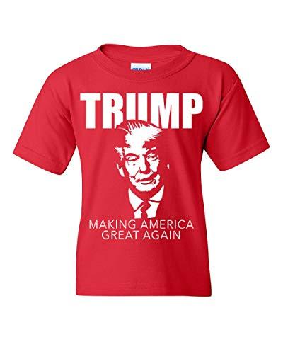 (Trump Making America Great Again Youth T-Shirt President 2020 MAGA Kids Tee Red L)