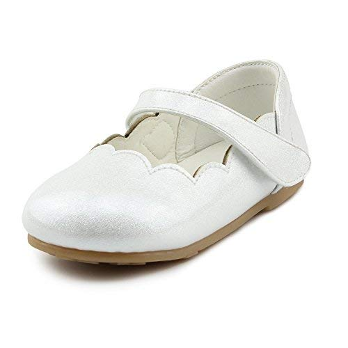 - Chiximaxu Little Girl's Casual Ballerina Round Toe Flat Shoes,Cream Toddler 7M