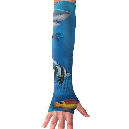 HBSUN FL Unisex Many Colorful Fish In Water Anti-UV Cuff Sunscreen Glove Outdoor Sport Riding Bicycles Half Refers Arm Sleeves by HBSUN FL
