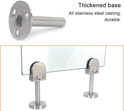 Bathroom balcony glass fixing clip 201 Stainless Steel Glass Fish Mouth Support Rod Fixing Clip with 14x80mm Rod M Specification