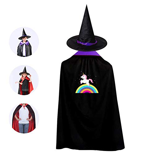 Halloween Kids Fly Horse Unicorn Wizard Witch Cape With Hat Cloak for Party Christmas Costume Cosplay for $<!--$10.99-->