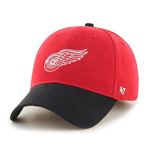 NHL Detroit Red Wings Kids Short Stack '47 MVP Adjustable Hat, Toddler, Red