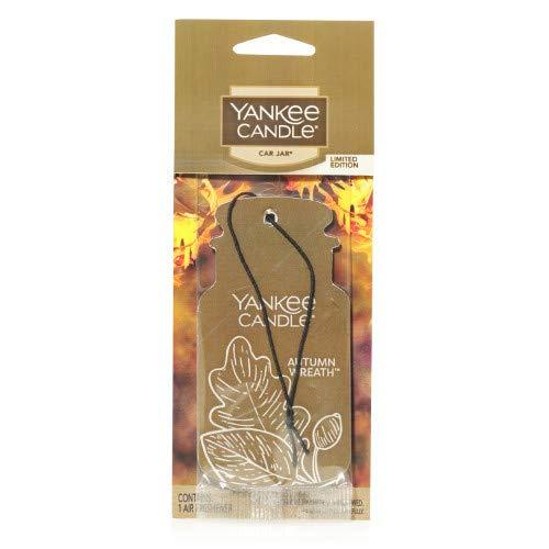 Yankee Candle Autumn Wreath Car Jar (Single, Paperboard), Food & Spice Scent ()