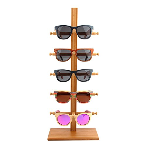 5 Layers Singe Row DIY Demountable Sunglasses Rack Holder Glasses Display Stand Shelf