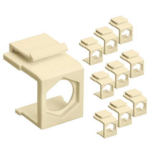 Cmple - Blank Insert Snap-in F Type Coax Connector for Keystone Wallplate - 10 Pack, - Snap F-type