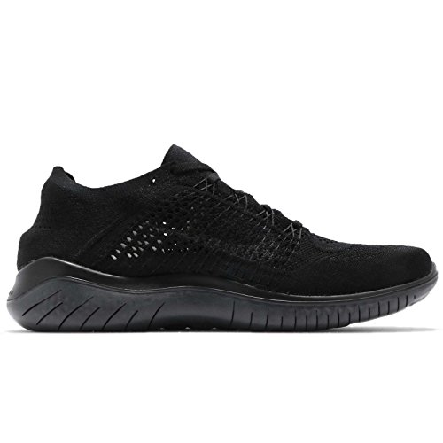 Nike Laufschuh Free Run Flyknit 2018, Chaussures de Running Compétition Homme, Multicolore Multicolore (Black/Anthracite 002)