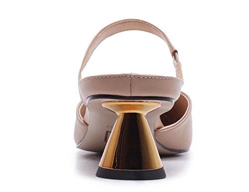 de femmes des pour formelles dames Chaussures de Sandales talon de hauts extérieures sandales d'été extérieures talons Apricot formées de ZwggaqO0x