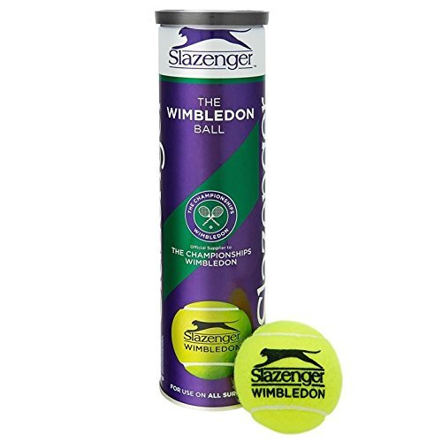 Slazenger Wimbledon Official Tennis Balls- 6 Tubes 24 Balls Special Offer – by Slazenger
