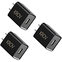 Quick Charge Charger QC 3.0 18W Usb Wall Charger 3 Pack Fast Qualcomm Certified with Smart IC for Samsung Galaxy S7 S6 Edge Plus,Note 5/4, LG G5 V10, Nexus 6,HTC 10 , iPhone iPad and More