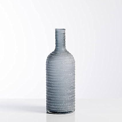 Tallada esmerilado botella de cristal jarrón corto – humo