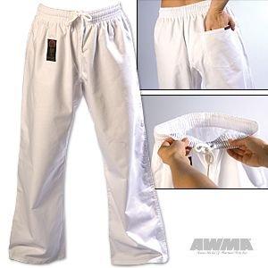 ProForce Gladiator 8oz Combat Karate Pants – White – Size 4