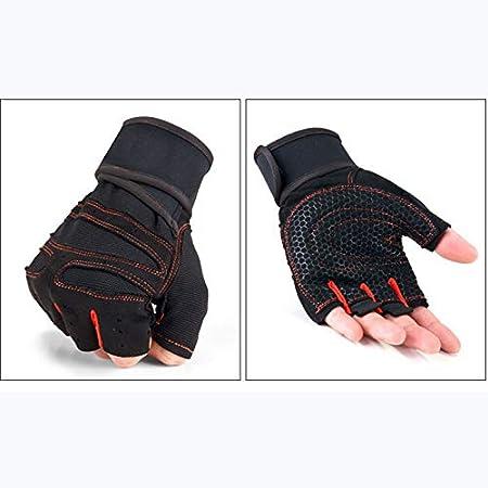 Zyuan Finger Moiti/é Gants Fitness Halt/ère Poids Musculation Antid/érapante R/ésistant /À lusure du Poignet Joint Palm ShanDD Color : Sky Blue, Size : M