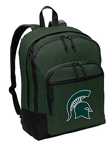Broad Bay Classic Michigan State University Backpack Medium Bag w/Laptop or Tablet -
