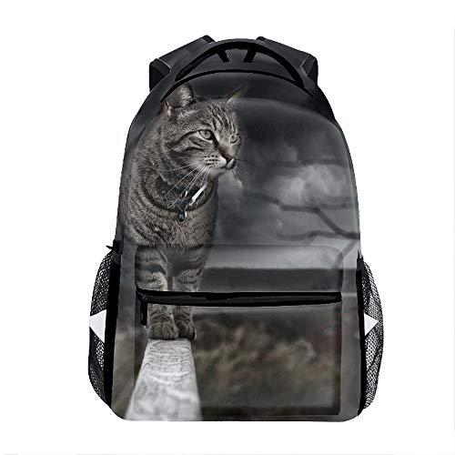 Cat Photo Manipulation Print Children Girl School Backpack Shoulder Bookbags]()