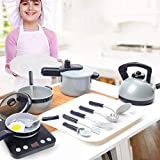 Kids Kitchen Pretend Play Toys, Cooking Set, Cooking House Simulation Cooking Tableware, Little...