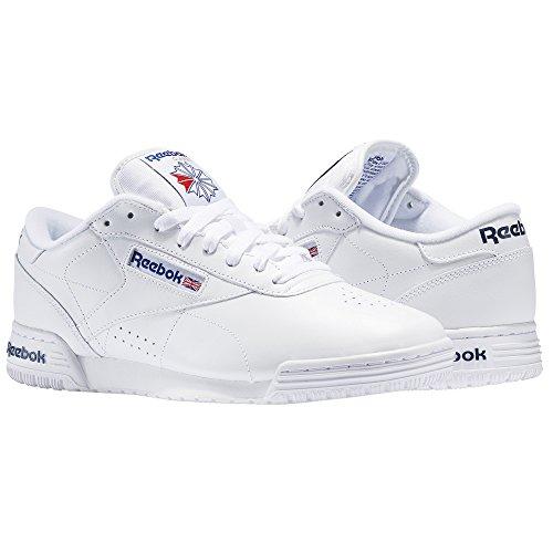 Logo Blue Baskets Clean o fit Ex Garçon Blanc royal white 000 Reebok int Int Basses royal Blue wSTqIA