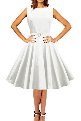 im Clarity 50er Vintage Kleid 'Audrey' Jahre Stil BlackButterfly Elfenbein w4qHf