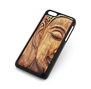 MEIMEI BLACK Snap On Case ipod touch 5 Plastic Cover - WOOD LIKE BUDDHA wooden hindu peace ohm love ganesh ganesha indianLINMM58281