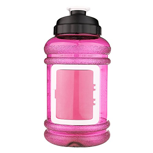 Sport Water Bottle, OUTERDO Drinking Bottle Drinking Container 2.2L BPA Free Big Capacity for Sport Gym Training Camping Workout pink