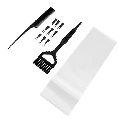 MagiDeal 3 In 1 Salon Hair Coloring Kit Weave Comb Highlight Brush Hair Perm Paper by Unknown