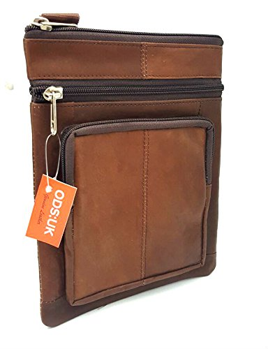 Mens Leather Bag Body Brown Holiday Cross Shoulder Real Messenger Organizer Distressed Document Travel Man n48qIXXd