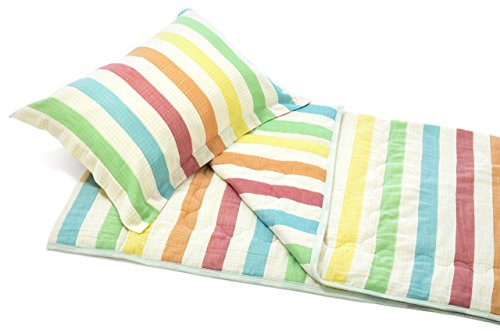 Henry and Bros. Kids' Quilt, Bunk Bed Blankets For Kids, Cotton Cloud Quilt (Relaxed Rainbow Stripe)