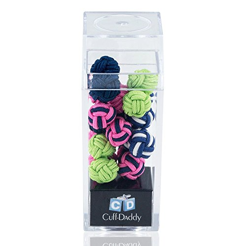 Preppy Silk Knot Gift Set - 5 Pairs By Cuff-Daddy