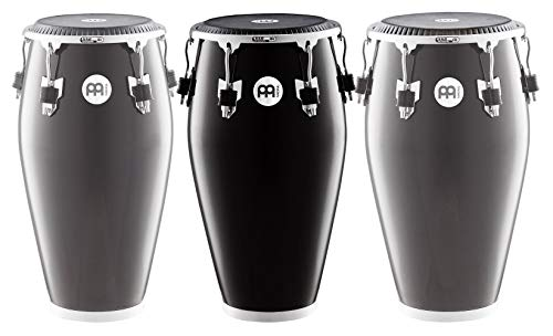 Meinl Percussion Conga with Fiberglass Shell, Fibercraft Series - NOT MADE IN CHINA - Black Finish, 11 3/4