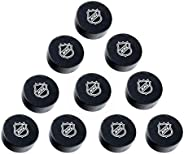 Ice Hockey Pucks, Match&Practice Use, NHL Logo Official Size,Black(Pack of