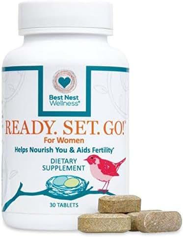 Ready. Set. Go! Best Nest Fertility Formula for Women, Doctor Recommended, Methylfolate, Whole Food, Antioxidants, Herbal Fertility Blend & Prenatal Nutrition, 30 Count