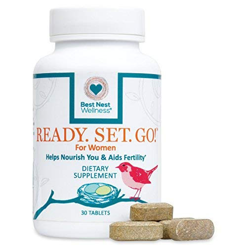 Ready. Set. Go! Best Nest Fertility Formula for Women, Doctor Recommended, Methylfolate, Whole Food, Antioxidants, Herbal Fertility Blend & Prenatal Nutrition, 30 Count