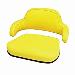 SEAT YELLOW VINYL 2PC John Deere 1010 1020 1520 15