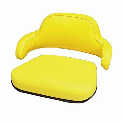 SEAT YELLOW VINYL 2PC John Deere 1010 1020 1520 1530 2020 2030 2040 2150 2155 2255 2350 2355 2440 2550 2555 2630 2640 2750 2755 2855 2955 4000 4020 4230 4320 820 830 1030 1120 2120 2250 3300 4400 7700 Tractor (Seat Vinyl Yellow)
