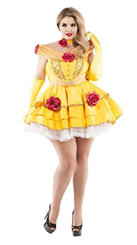 (Party King Women's Belle of The Ball Plus Size Costume, Yellow,)