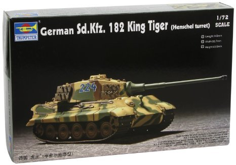 Trumpeter 1/72 German SdKfz 182 King Tiger Tank (Henschel Turret) by Trumpeter