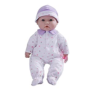 JC Toys La Baby 16-inch Washable Soft Body Purple Play Doll - For Children 2 Years Or Older, Designed by Berenguer
